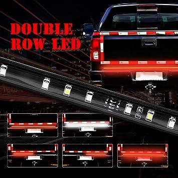 "60/"" Dual Row LED Tailgate Bar Turn Signal Brake LED Light Bar Strip Truck Rear"