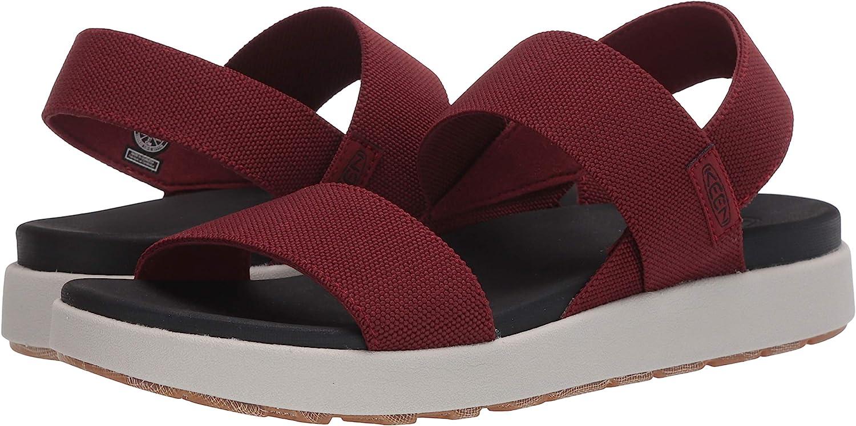 Keen Damen Elle Backstrap Casual Platform Open Toe Sandale rot 39 EU