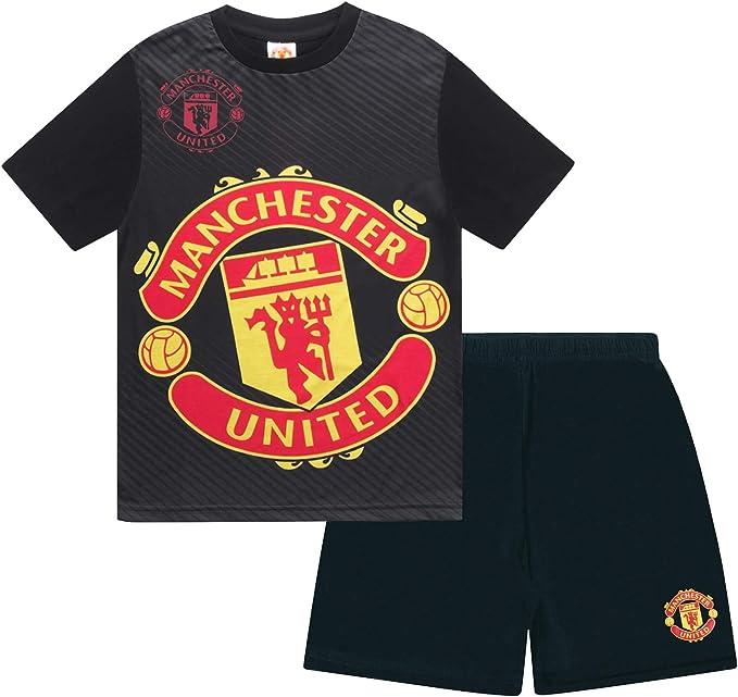 Manchester United FC - Pijama corto para niño - Producto oficial: Amazon.es: Ropa y accesorios