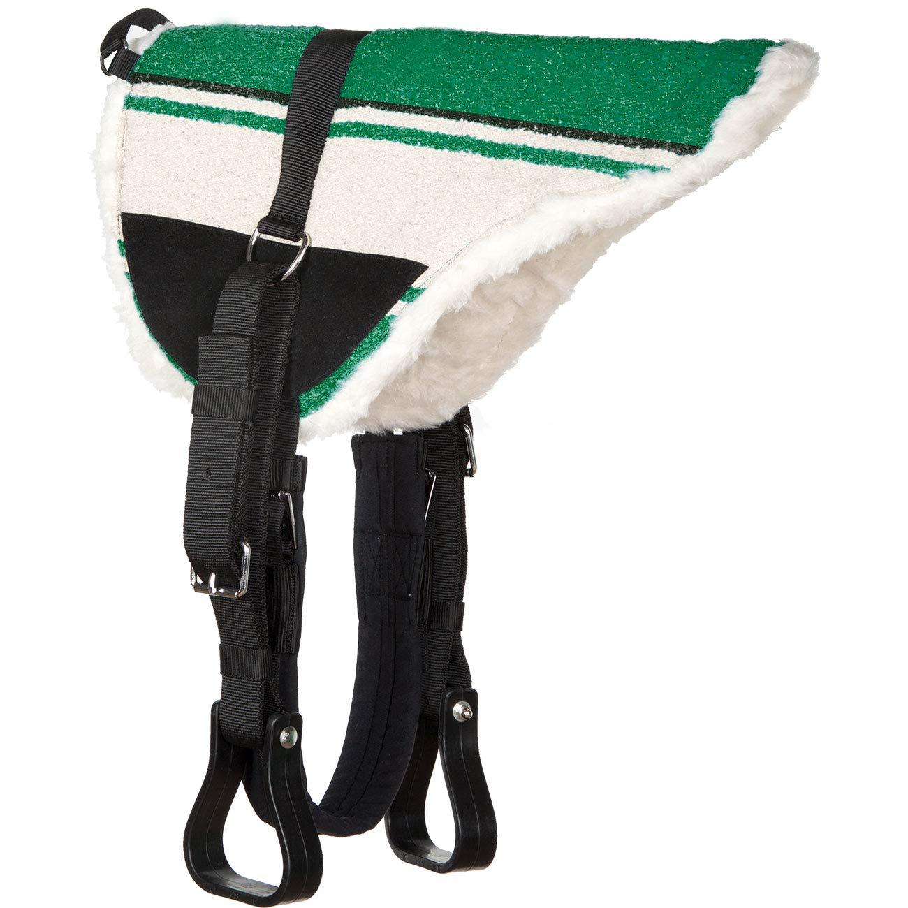 Bareback Pad komplett Heinick-Reitsport Reitkissen Reitpad Sattelkissen ~ Green ~ Shetty Pony Kleinpferd