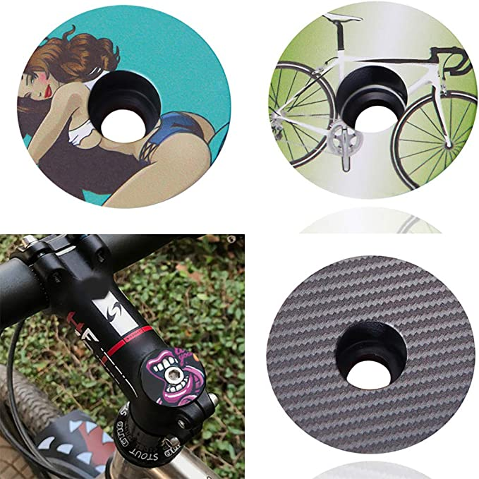 """Bicycle Headset Top Cover Bike Headset Stem Top Cover Cap Fork 1-1//8/"""" Cnc/_sh"""