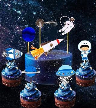 Amazon.com: 28 piezas JeVenis Space Astronaut Cupcake ...