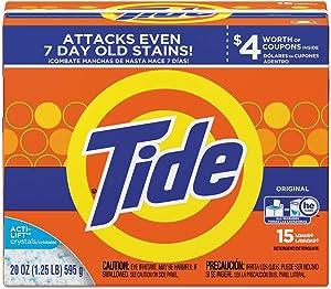 Tide Fresh Scent Powdered Laundry Detergent, 15 Load, 20 oz