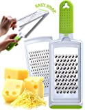 Fine & Coarse Stainless Steel Handheld Grater – Dishwasher Safe Zester & Cheese Graters for Kitchen