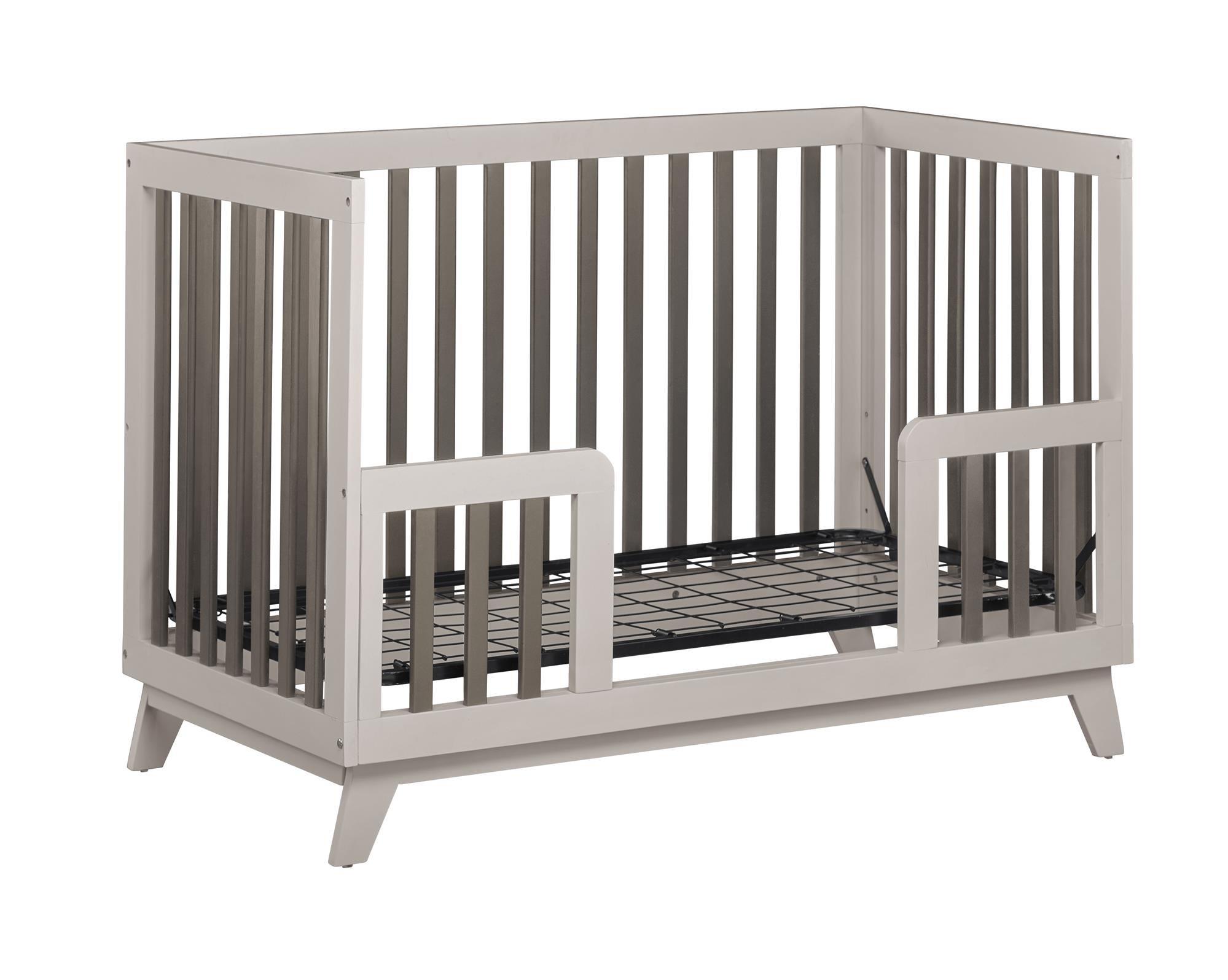 Little Seeds Rowan Valley Flint Toddler Bed Rail, Two-Tone Gray