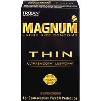 Trojan Condom Magnum Thin Lubricated, 12 Count