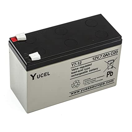 Yucel / yuasa Y7-12 Sellado Lead Acid Battery 12v 7ah Motor ...
