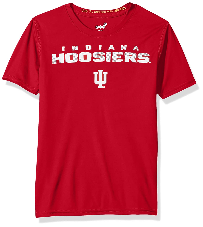 NCAA by Outerstuff NCAA Indiana Hoosiers Youth Boys Nebula Dri-Tek Short Sleeve Tee 10-12 Victory Red Youth Medium