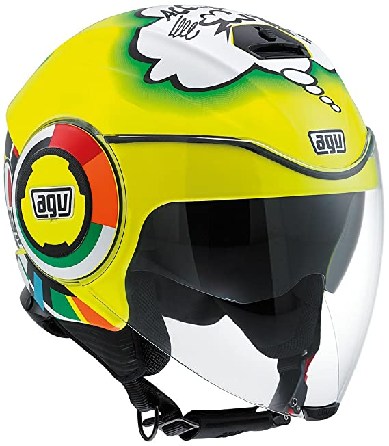 Amazon.es: AGV J4811A0G0002 Casco de moto Fluid E2205 Top, multicolor 4 multicolor