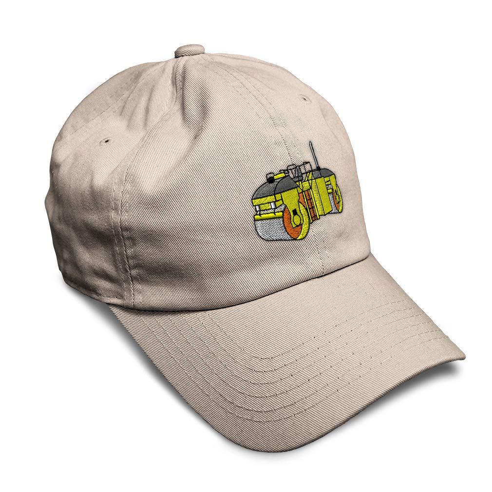 Custom Soft Baseball Cap Asphalt Roller Embroidery Dad Hats for Men /& Women
