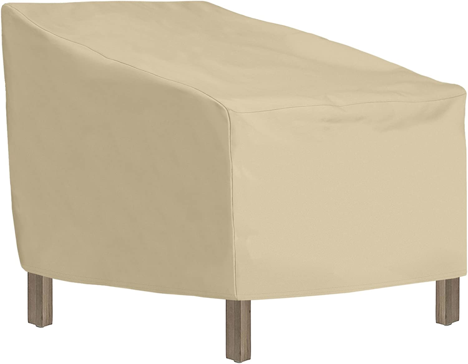 SunPatio Outdoor Club Chair Cover, Heavy Duty Waterproof Lounge Chair Cover, Patio Furniture Cover 34 L x 37 W x 36 25 H, Durable and All Weather Protector, Beige