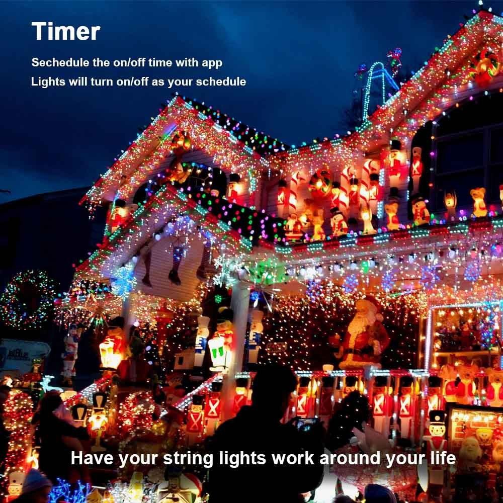 Brizled Dimmable Led String Lights 200 65ft Mini Dancingledchristmaslightcircuit Bluetooth Controlled By Ios Android Devices