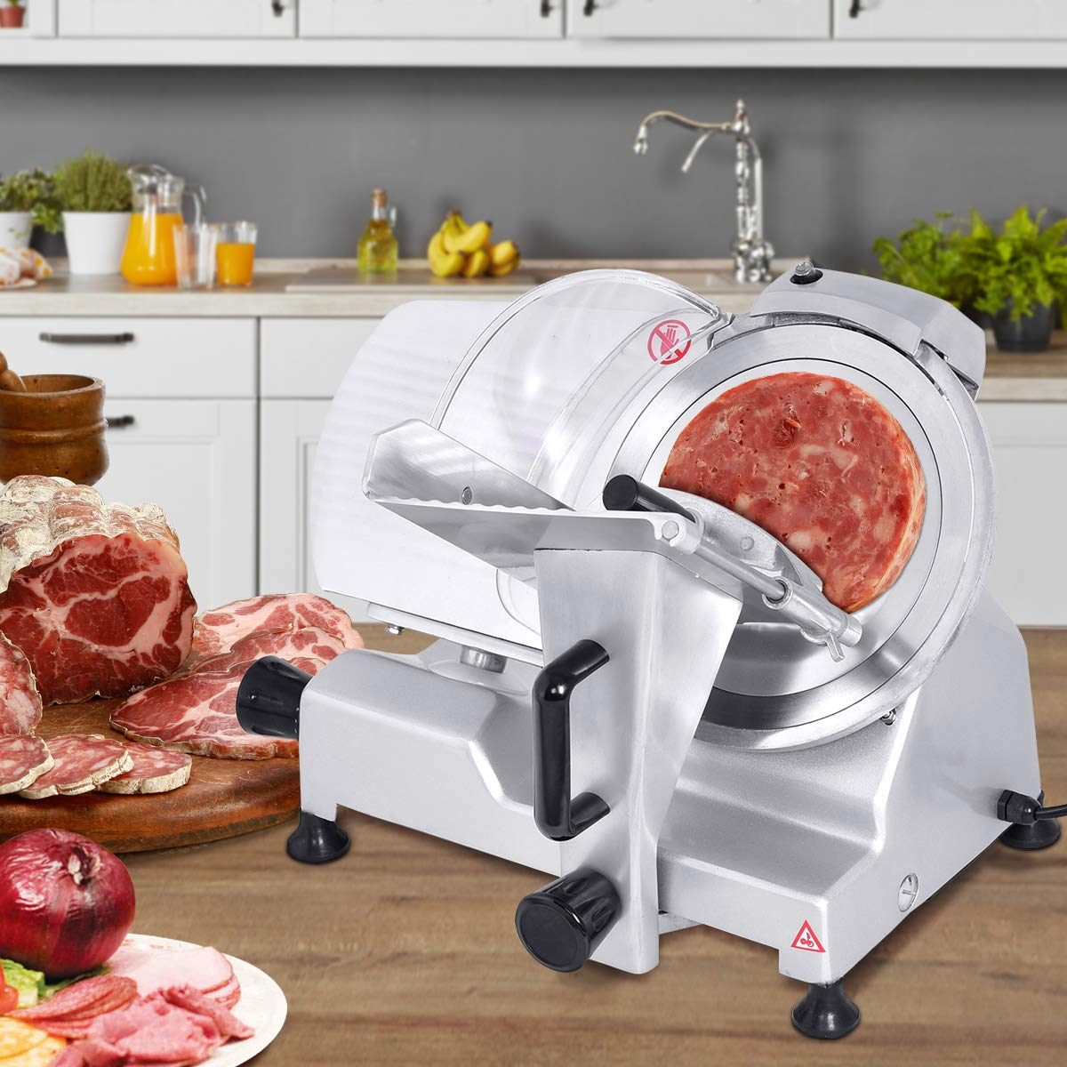 Giantex 10 Blade Commercial Meat Slicer Deli Meat Cheese Food Slicer Industrial Quality
