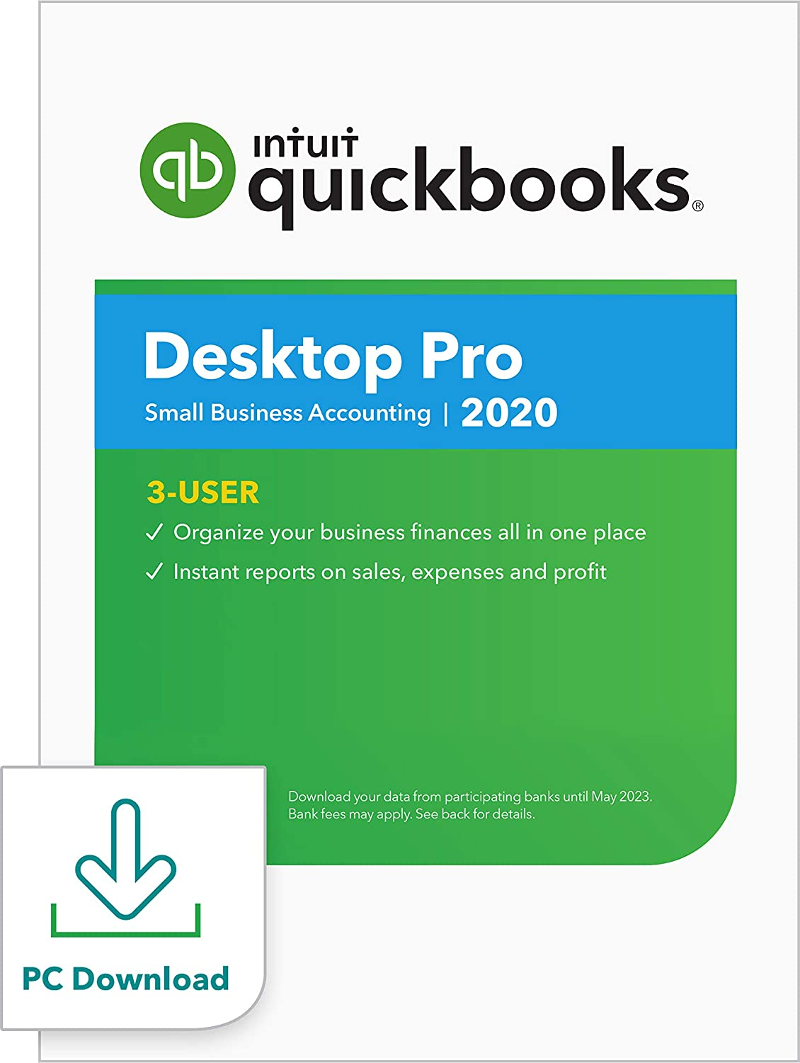 QuickBooks DesktopPro 2020Accounting Software for Small Business - 3 User [PC Download]