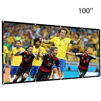 Umiwe Pantalla de Proyección de 100 Pulgadas: 16 HD Proyector ...