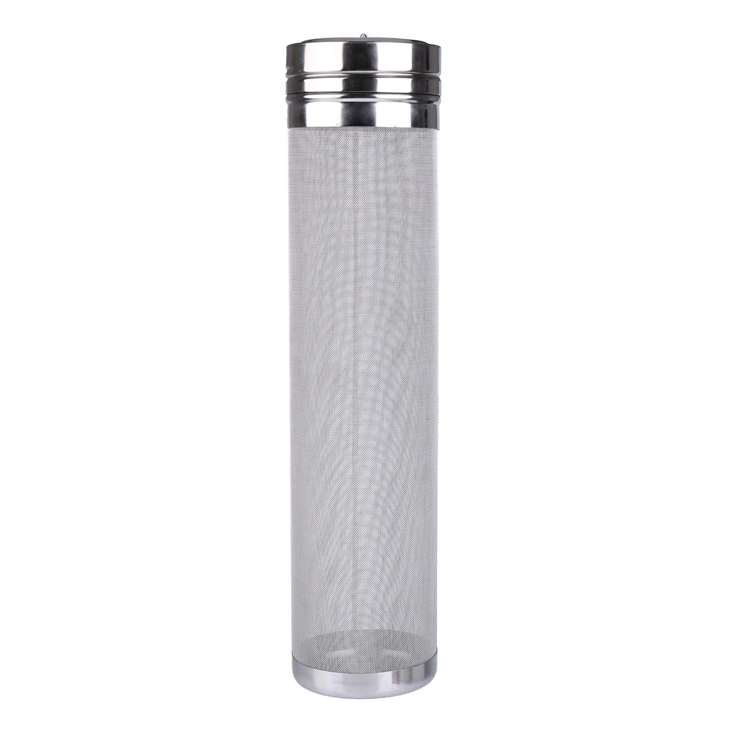 Outamateur 300 Micron Filter Stainless Steel Mesh Dry Hopper Brewing Filter Tea Kettle Brew Filter for Homebrew of Beer Wine Coffee (2.9 x 11.8)