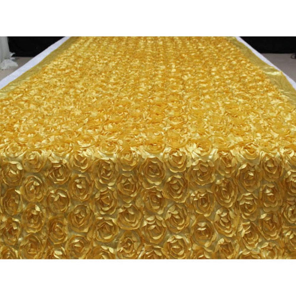Aoile 3D Rose Flower Aisle Runner Marriage Carpet Curtain Wedding Party Backdrop T Stage Decoration Gold