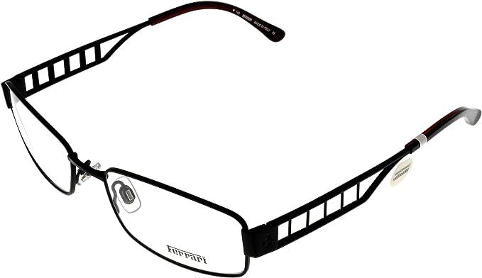 Amazon Com Ferrari Eyeglasses Unisex Fr5057 002 Black Burgundy Clothing