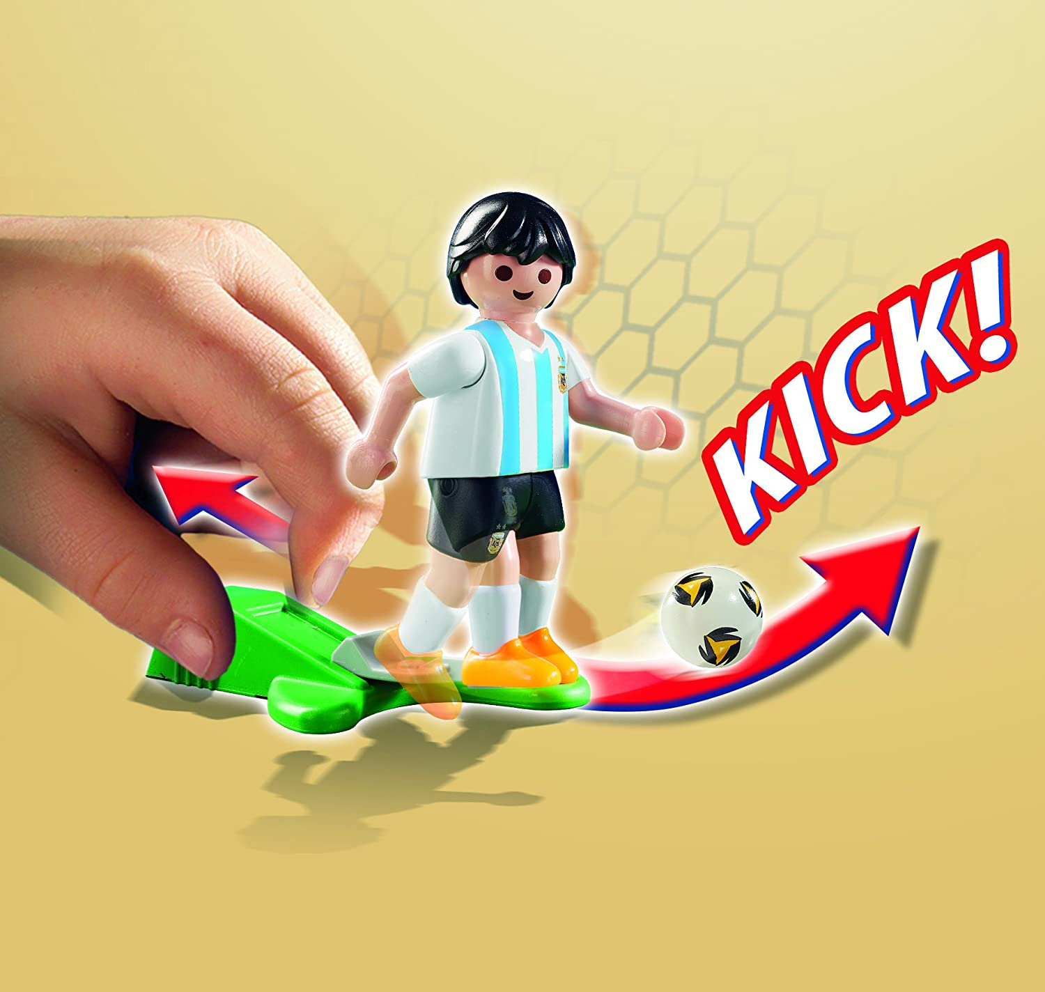 PLAYMOBIL Soccer Player Argentina Buildable Figure