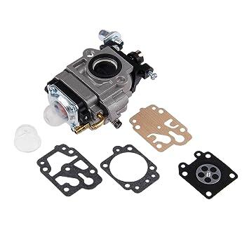 Carburador para desbrozadora con kit de reparación para los modelos MP15, CG430, CG520, BC430, BC520 de 43 cc y 52 cc