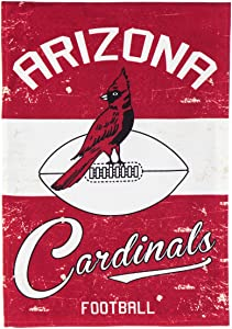 "Team Sports America Arizona Cardinals NFL Vintage Linen Garden Flag - 12.5"" W x 18"" H Indoor Outdoor Double Sided Décor Sign for Football Fans"