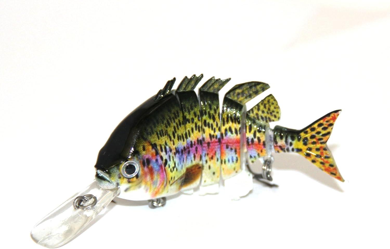 "10/"" Multi-Jointed Fishing Lure Big Bait Swimbait Bass Life-like Pike Muskie NEW"