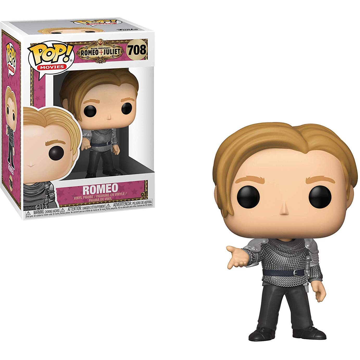 Funko Romeo: Romeo BCC9UCW Movies Vinyl Figure /& 1 POP Compatible PET Plastic Graphical Protector Bundle Juliet x POP #708 // 36327 - B