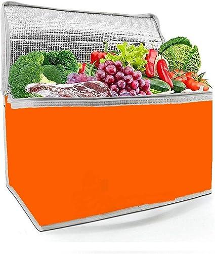Ducomi Nevera térmica portátil para almuerzo, playa, mar, camping, medicamentos y oficina – Bolsa fiambrera para comida caliente y fría (naranja, 3 L)