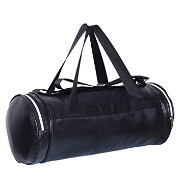 76931dd1f80e7a Dee Mannequin Fitness Black Leather Rite Gym Bag: Amazon.in: Sports, Fitness  & Outdoors
