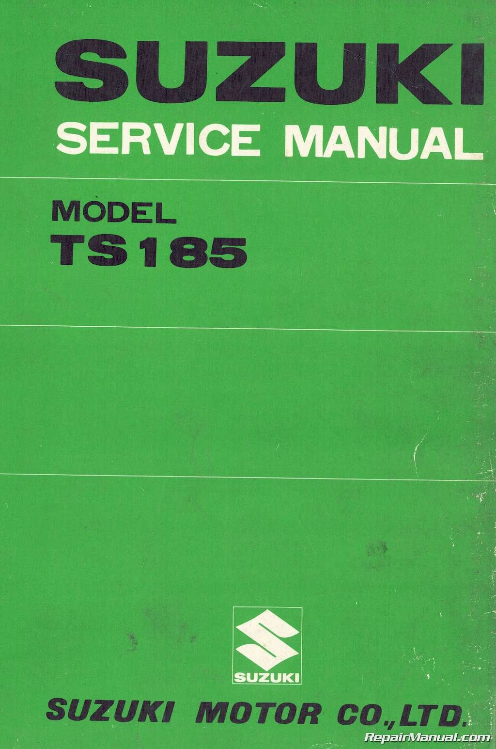 1976 Suzuki TS185 Sierra Motorcycle Service Manual: Manufacturer:  Amazon.com: Books