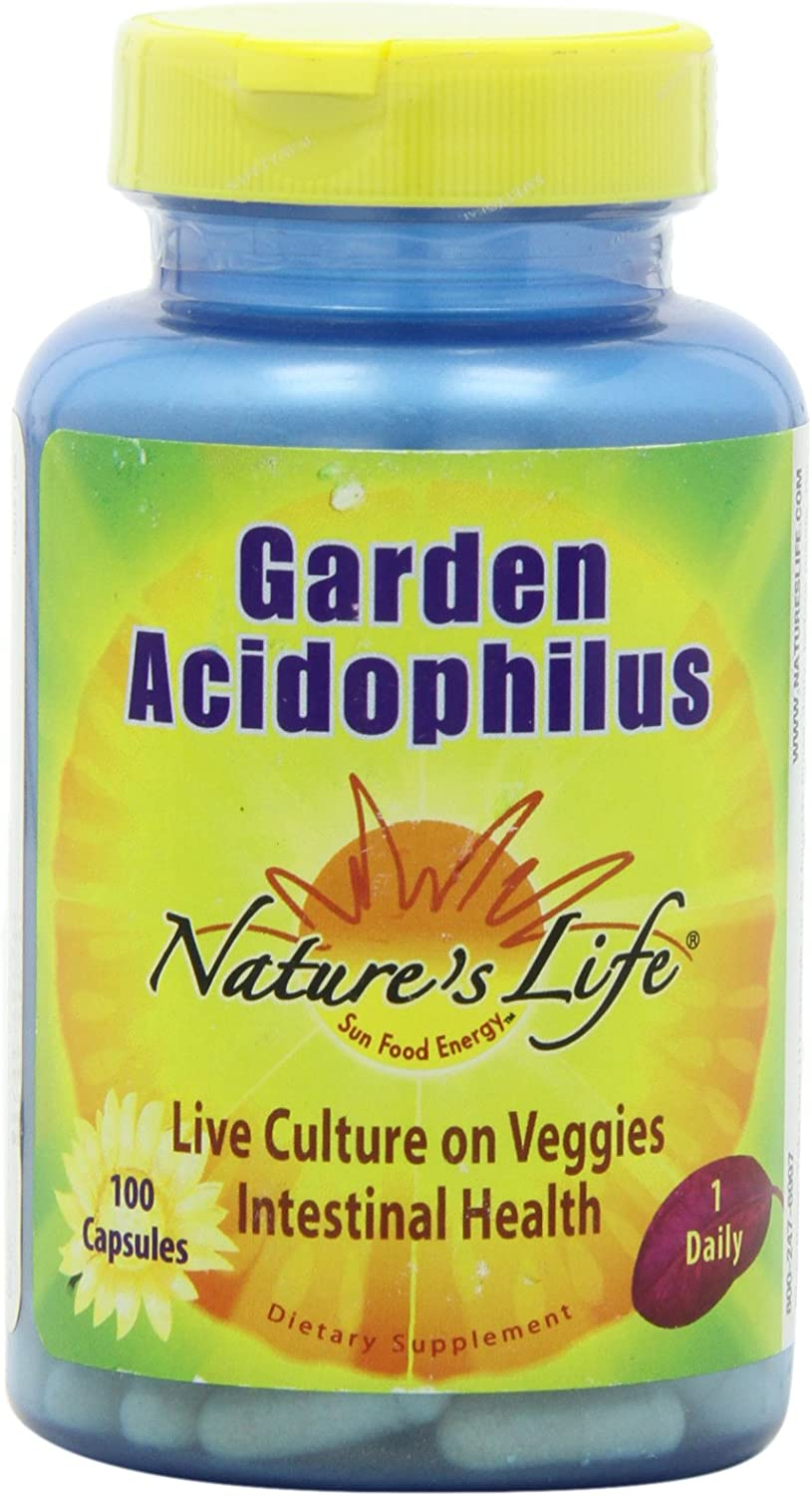 Nature's Life Acidophilus Capsules, Garden, 500 Mg, 100 Count
