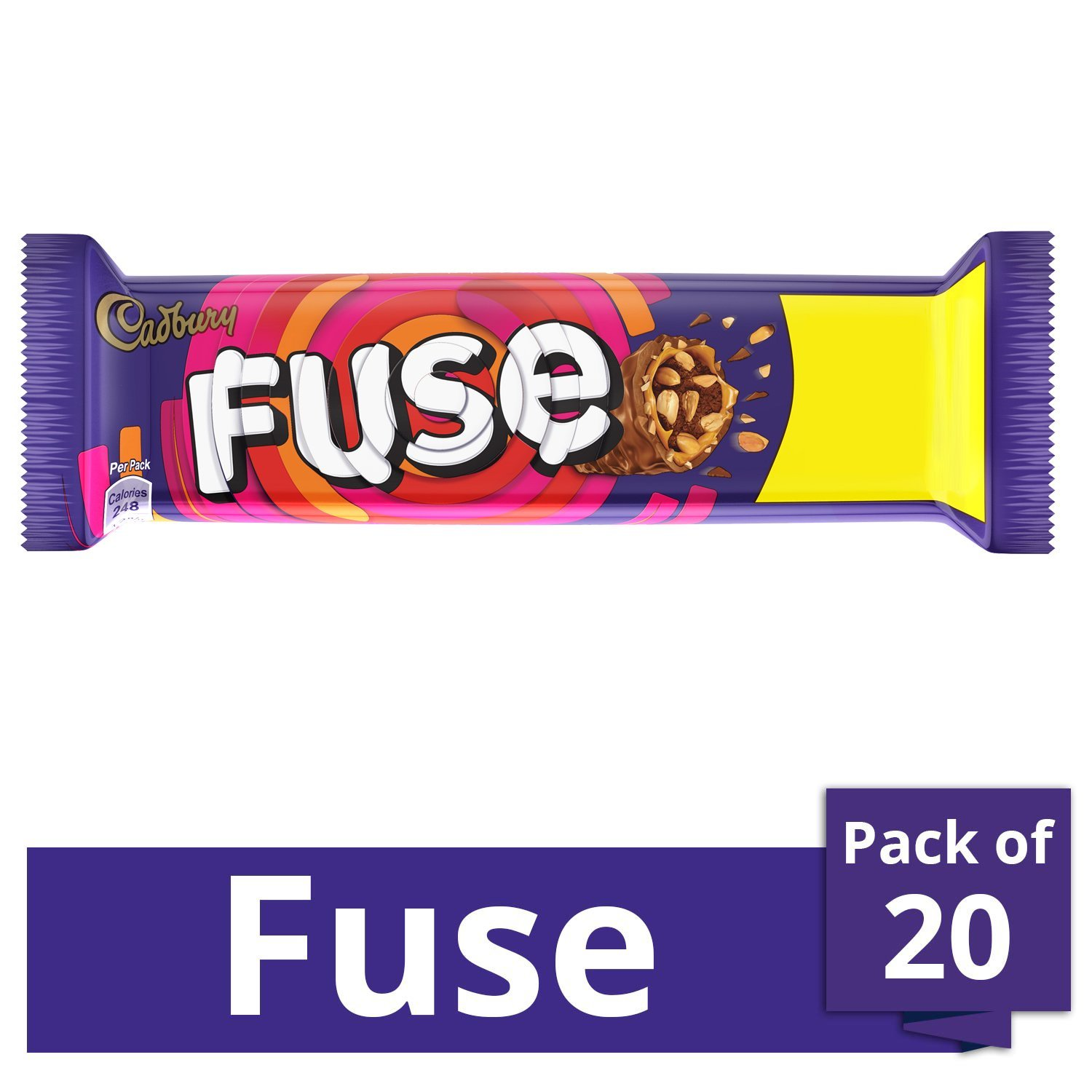 Cadbury Fuse Chocolate Bar, 45 g(Pack of 20): Amazon.in: Grocery & Gourmet  Foods