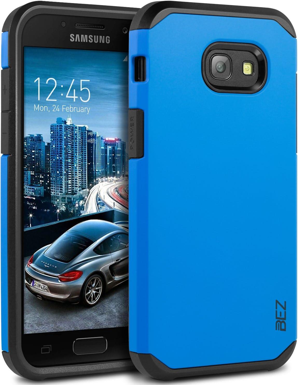 BEZ Coque pour Samsung A5 2017, Housse Etui Antichoc Samsung Galaxy A5 2017 Survivor Shockproof Double Protection Double Ultra Resistante - Bleu ...