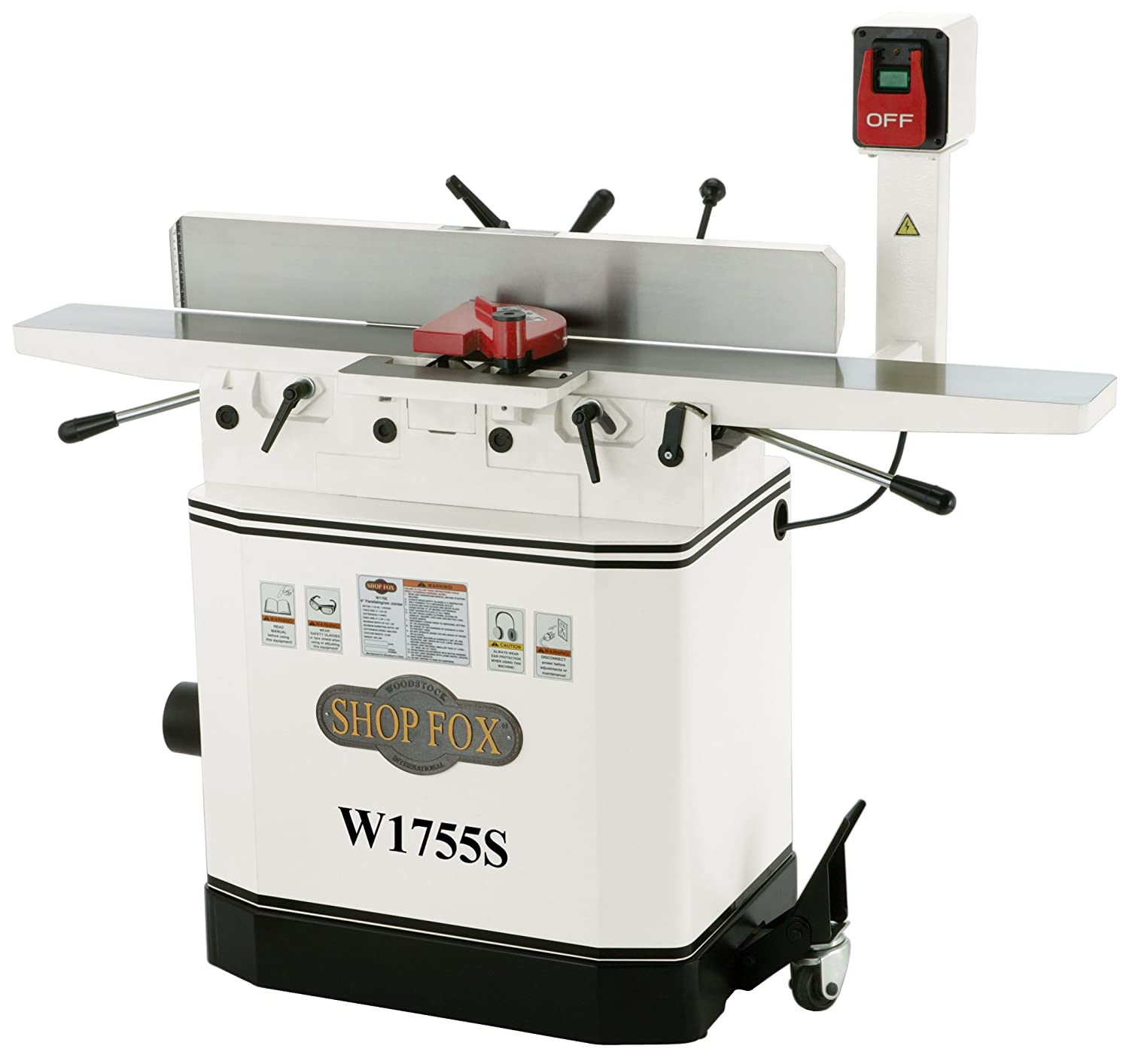 Shop Fox W1755S 6-Inch Jointer With Spiral Cutterhead