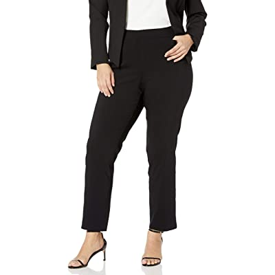 Briggs New York Women's Plus-Size Super Stretch Millennium Welt Pocket Pull-on Career Pant at Women's Clothing store