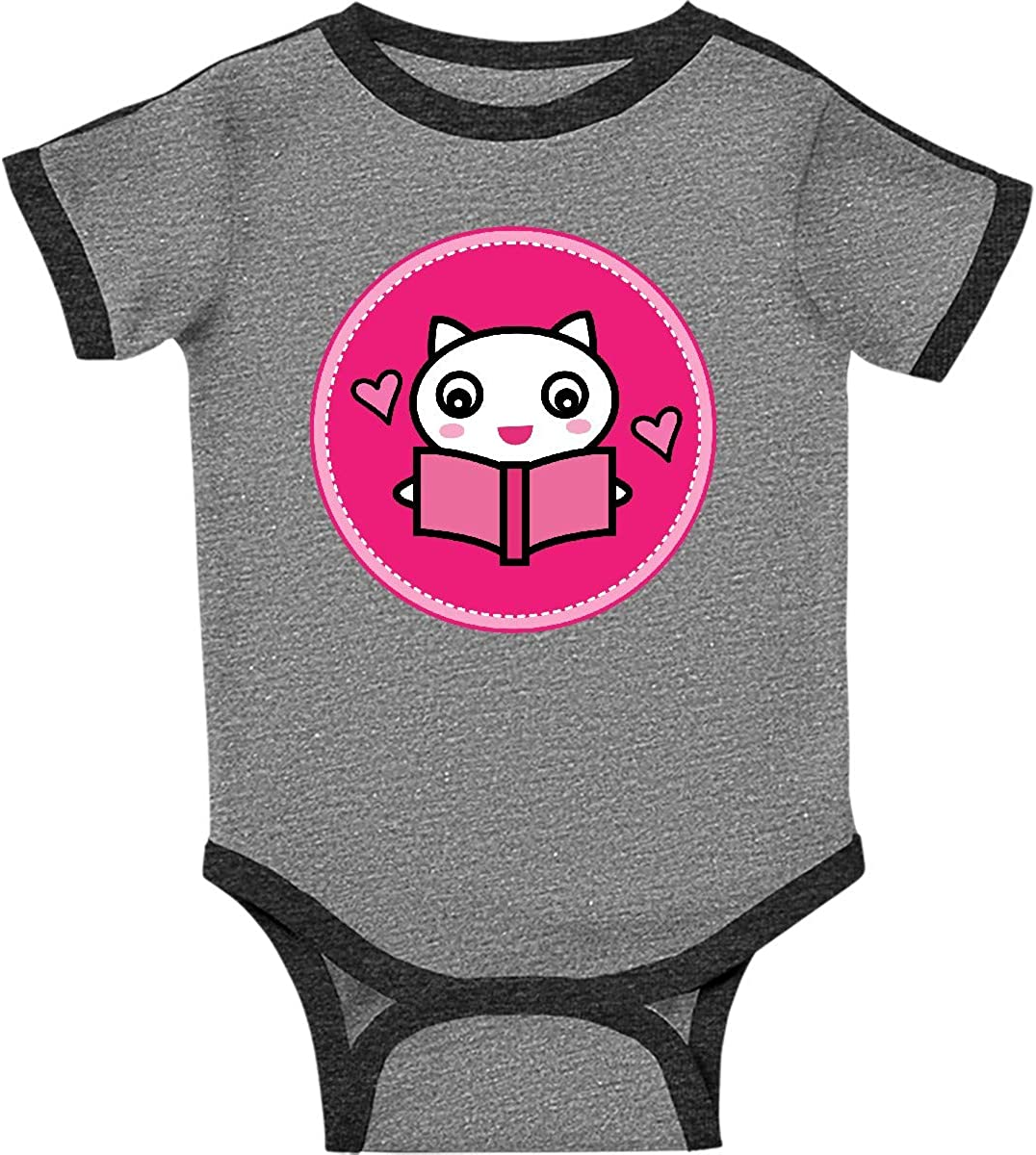 inktastic Reading Gift Cat with Book Infant Creeper