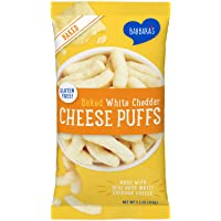 Barbara's Baked White Cheddar Cheese Puff, Gluten Free, 5.5 Oz Bag (Pack of 12)