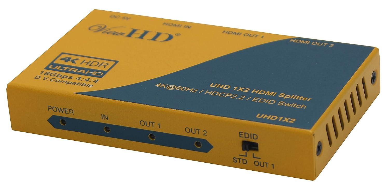 ViewHD 2 Port 1x2 Powered HDMI Mini Splitter for 1080P & 3D | VHD-1X2MN3D U9LTD