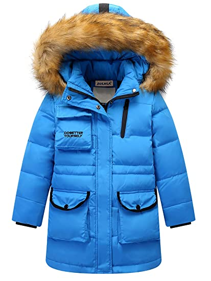 1bc02c250 ZOEREA Kids Down Jacket Boys Winter Coat Hooded Thicken Outfit Heavy ...