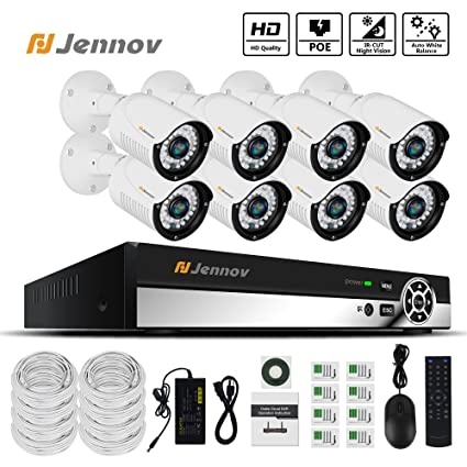 Amazon Jennov Poe Cctv Security Nvr System 8 Channel 1080p. Jennov Poe Cctv Security Nvr System 8 Channel 1080p Surveillance Ip Work Camera Hd Night Vision. Wiring. Remote Access Ip Camera Poe Ethernet Wire Diagram At Scoala.co
