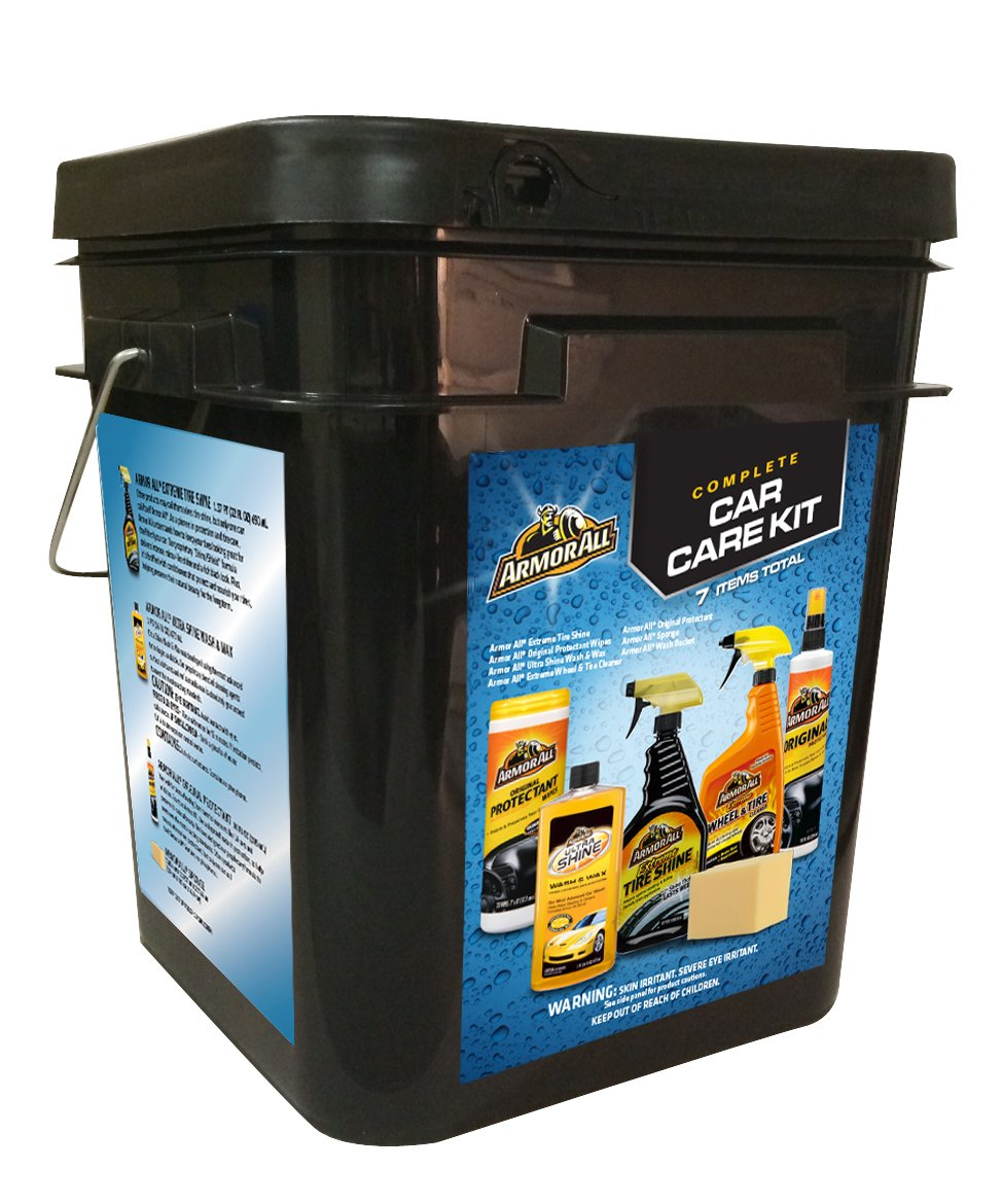 Armor All 18373 Complete Car Care Kit Car Wash Bucket, 7 Pieces