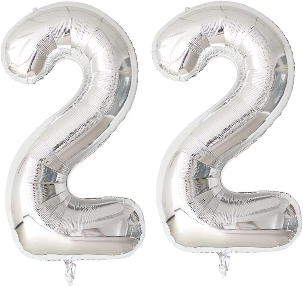 40\u201d Number 22 Metallic Lime Green Balloon Giant Balloon Birthday Balloons Birthday Decorations Party Foil Balloons 22nd birthday Dino Safari
