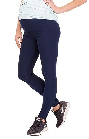 BeLady Legging de Maternité Femme en Coton Longs Jambières Pantalon Opaque  Noir Marron Bleu marine Graphite a912a244509