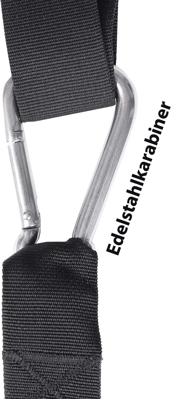 Variosling/® Sling Trainer mit Profi Umlenkrolle inkl Poster Made IN Germany T/üranker Schlingentrainer DVD