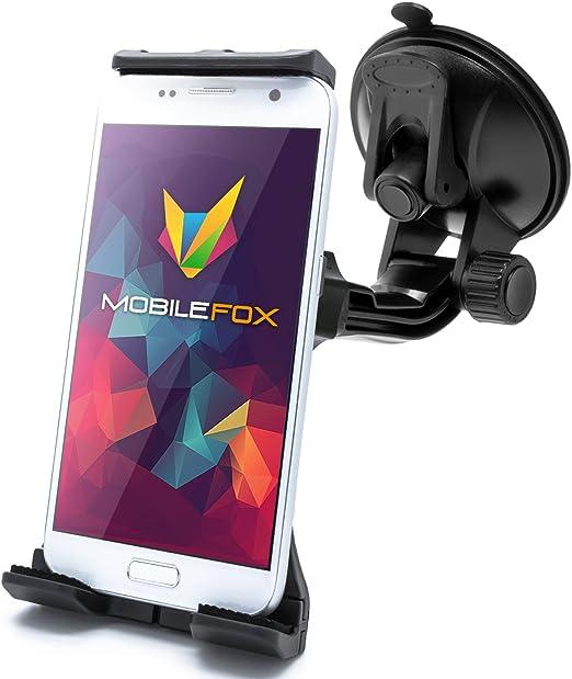 Mobilefox 360 Kfz Handyhalterung Windschutzscheibe Saugnapf Halter Für Samsung Galaxy S10 S9 S8 S7 S6 S5