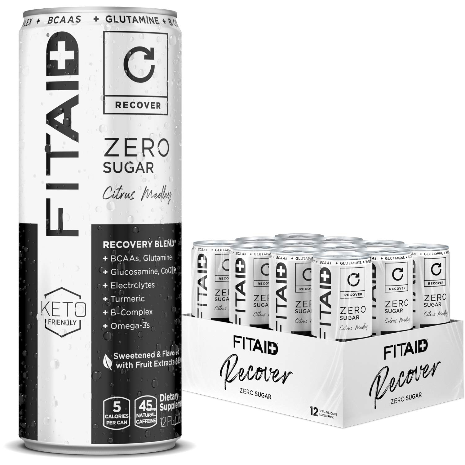 FITAID ZERO Post-Workout Recovery Drink 12 Pack