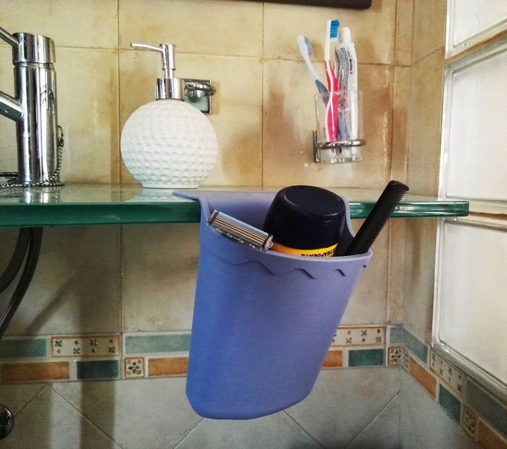 Bolsillo Organizador Cartuchera Alforja de Silicona Multiusos para Peluquería Bricolaje Baño Cocina Garaje Salon Salita Dormitorio - Color Rosa: Amazon.es: ...