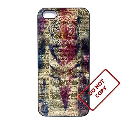 Amazon.com: Tiger iphone 5/5s case Customized Premium ...