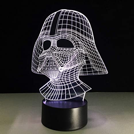 Led Nightlight 3D Usb Star Wars Lámpara De Escritorio Bebé Sleep ...
