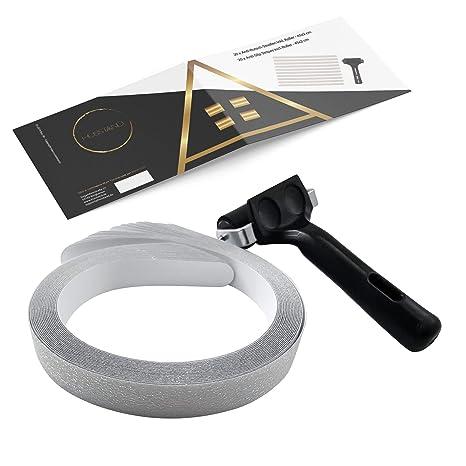 husstand - 20 x Anti-Rutsch Streifen (45x2 cm), für Dusche und Badewanne, inkl. Fixier Roller, transparent, selbstklebend